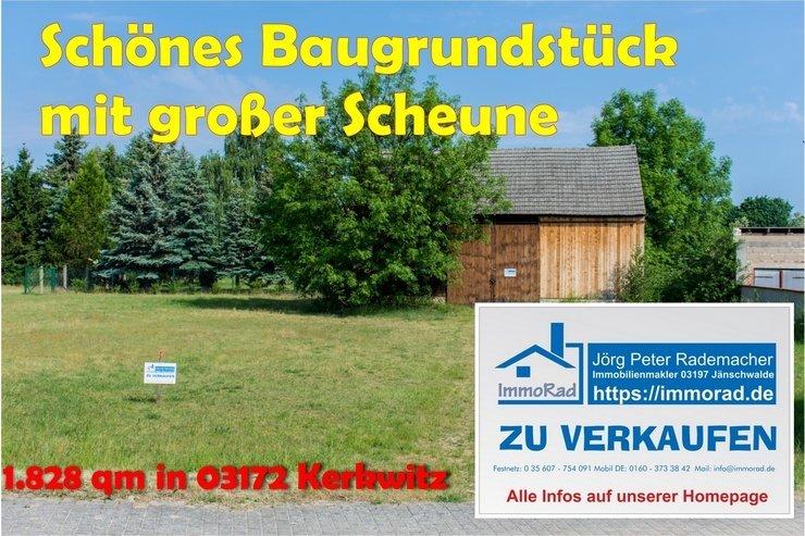 Baugrundstück mit Scheune in Kerkwitz