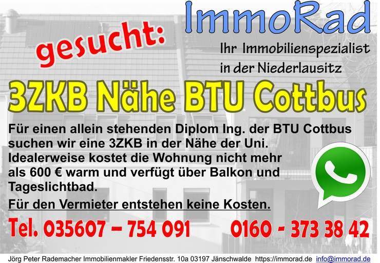 3ZKB Wohnung Nähe BTU Cottbus