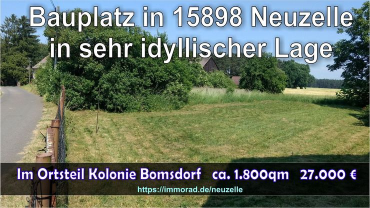 Idyllischer Bauplatz in 15898 Neuzelle