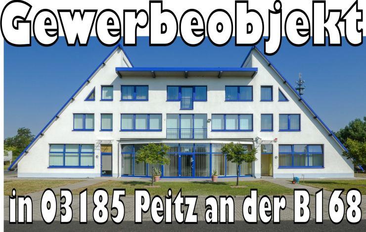 Großes Büro Lagerhalle Gewerbeobjekt in 03185 Peitz an der B168 zu verkaufen